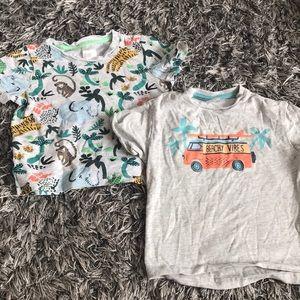 H&M summer T shirts 4-6 months.